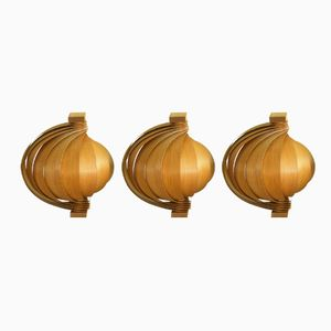 Swedish Wall Lights by Hans Agne Jakobsson, 1960s, Set of 3
