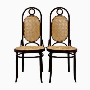 Sillas de comedor modernistas de madera curvada de Salvatore Leone. Juego de 2