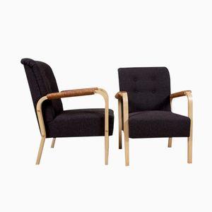 Vintage Modell 47 Armlehnstühle von Alvar Aalto für Artek, 2er Set