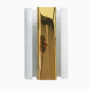 Lámpara de pared de latón y metal perforado de Hans-Agne Jakobsson, 1982