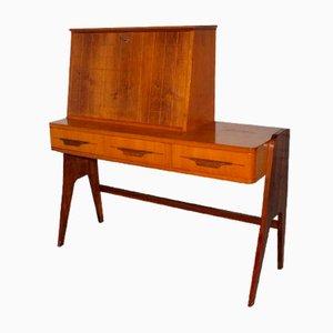 Secreter Mid-Century de madera, años 50