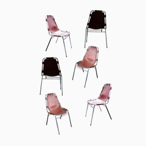 Les Arcs Chairs by Charlotte Perriand for Cassina, 1960, Set of 6