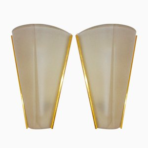 Etched Glass Sconces from Hustadt Leuchten, 1960s, Set of 2