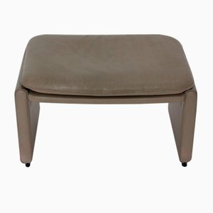 Leather Footstool from de Sede, 1980s
