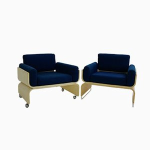 Lounge Chairs from Olympic Airways, 1960s, Set of 2