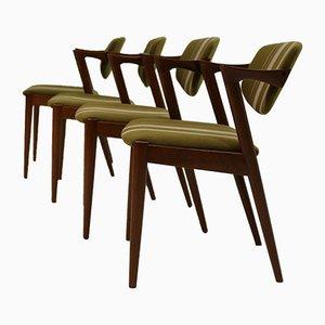 Chaises Model 42 par Kai Kristiansen, Set de 4