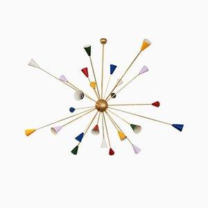 Lámpara de araña Sputnik italiana Mid-Century, años 70