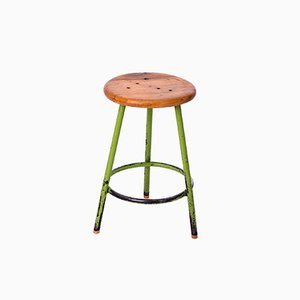 Green Industrial Stool, 1950