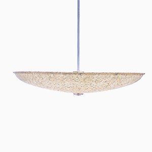 Lampada a sospensione grande in fibra di vetro di Louis Kalff per Philips