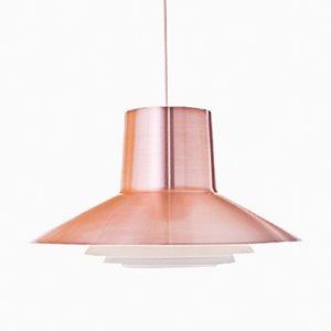 Lampe à Suspension Rouge en Cuivre par Svend Middelboe