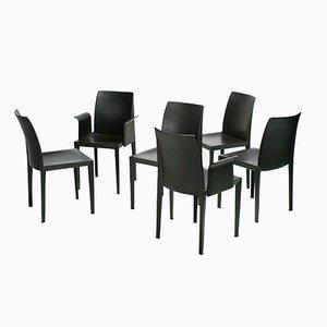 Lola Dining Chairs by Luigi Cerri for Poltrona Frau, Set of 6