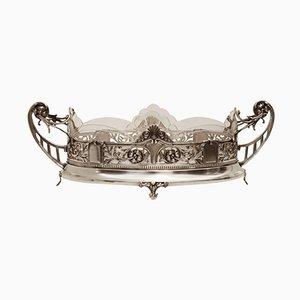 Antique Viennese Art Nouveau Silver Jardinière