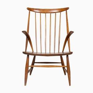 Armlehnstuhl aus Buchenholz von Illum Wikkelsø für Niels Eilersen