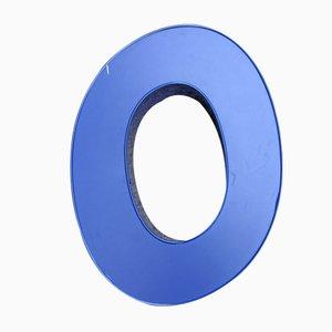 Blue Aluminium Neon Letter O