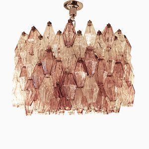 Italian Poliedri Ceiling Light by Carlo Scarpa for Venini, 1960s