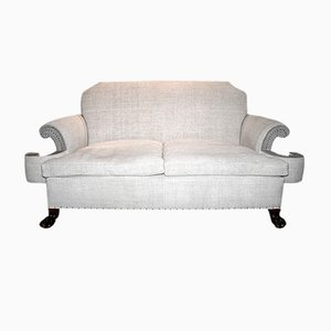 Antique English Linen Sofa, 1910
