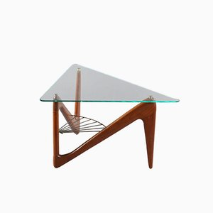 Triangular Rosewood Coffee Table by Louis Sognot, 1950s