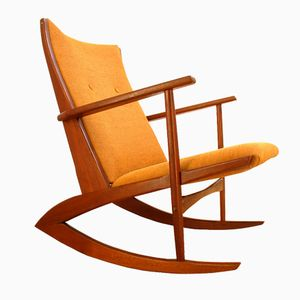 Danish Boomerang Rocking Chair by Søren Georg Jensen for Kubus, 1960s