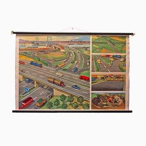 Póster Mid-Century de autopistas