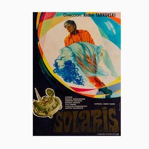 Póster ruso vintage de la película Solaris, 1977