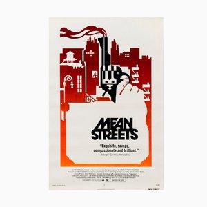 Póster de la película 'Mean Streets' estadounidense vintage, 1973