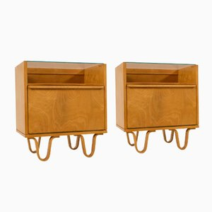 Birchwood Nightstands by Cees Braakman for UMS Pastoe, Set of 2
