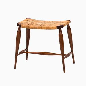Model 967 Mahogany and Cane Stool by Josef Frank for Svenskt Tenn