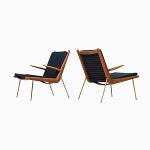 Model FD-134 Boomerang Easy Chairs by Peter Hvidt & Orla Mølgaard-Nielsen, Set of 2