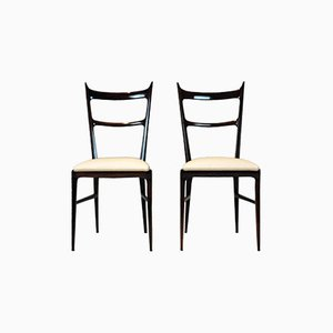 Italian Rosewood Chairs by Carlo di Carli, 1950s, Set of 2
