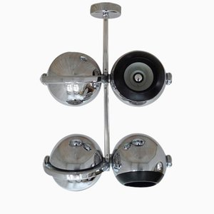 German 4 Lamped Chromed Spotlight from Erco, 1970s