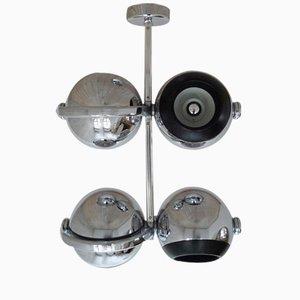 Projecteur Chromé à 4 Lampes de Erco, Allemagne, 1970s