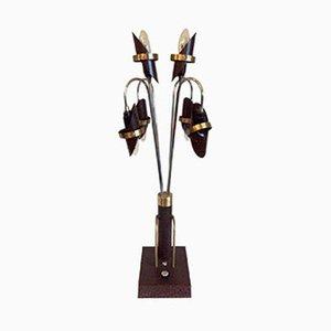 Lámpara de mesa estadounidense Mid-Century, años 50