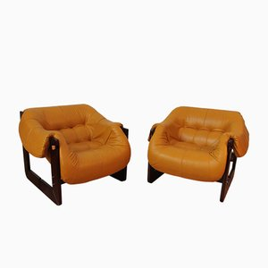 Brazilian Armchairs from Percival Lafer, 1970, Set of 2