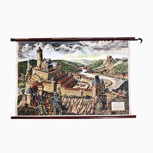 Mid-Century Ritterburg Lehrtafel