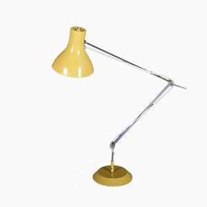 Lámpara de mesa checa en amarillo de Josef Hurka para Napako, años 70