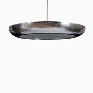 Czech Large Bauhaus Copper Ceiling Lamp by Josef Hurka for Napako, 1930s