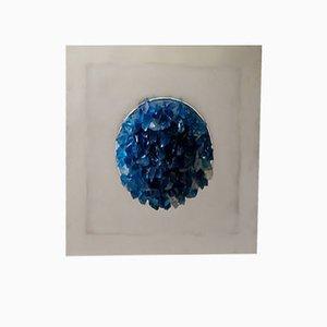 Aplique de pared italiano azul océano de Angelo Brotto para Espéria, 1974