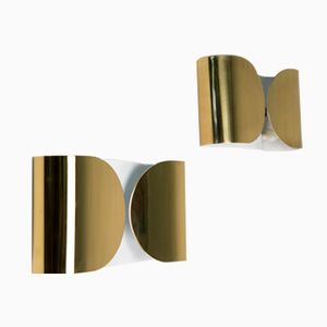Foglio Wall Lights by Tobia Scarpa for Flos, 1966, Set of 2