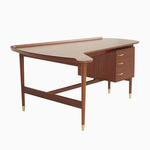 Danish BO 85 Desk by Arne Vodder for Bovirke, 1952