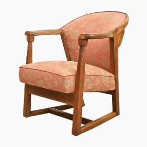 American Oak Armchair from Jamestown, 1940s