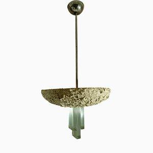 Italienische Deckenlampe aus Terrakotta von Fontana Arte, 1950er