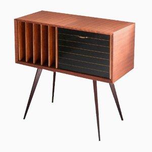 Italian Mahogany Hi-Fi Cabinet, 1960s