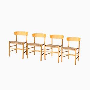 J39 Stühle von Børge Mogensen für Fredericia, 1960, 4er Set