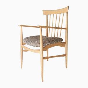 Vintage Beech & Tweed Armchair, 1950s