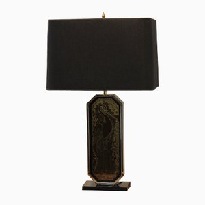Lampe de Bureau Artisanale Plaqué Or 23 Carat par Georges Mathias pour M2000 Design, 1970s