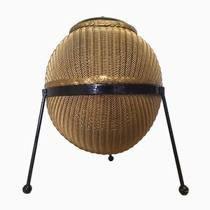 British Sputnik Basket by Geoffrey Lusty for Lloyd Loom, 1950s