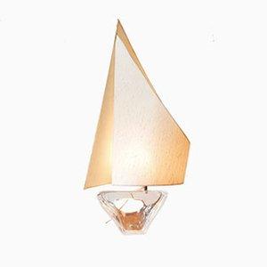 Lámpara de mesa francesa de cristal de Duam, años 50