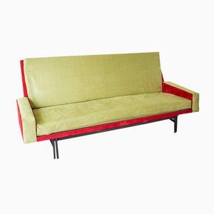 Sofá cama de tres plazas francés de René Jean Caillette para Steiner, 1961