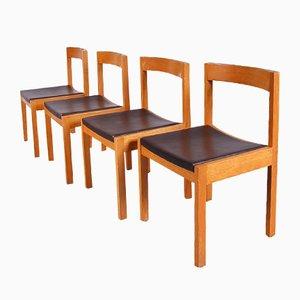 Niederländische Esszimmerstühle von Gerard Geytenbeek für AZS Meubelen, 1960er, 4er Set
