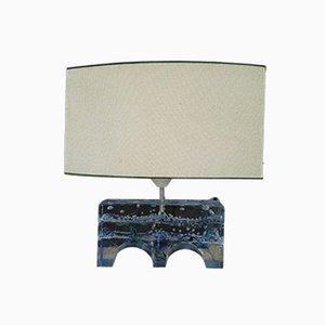 Lámpara de mesa italiana de cristal de Murano Pulegoso, años 60